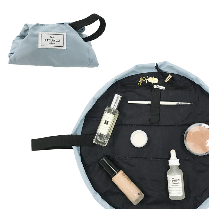 Mini Open Flat Makeup Bag Haze Blue