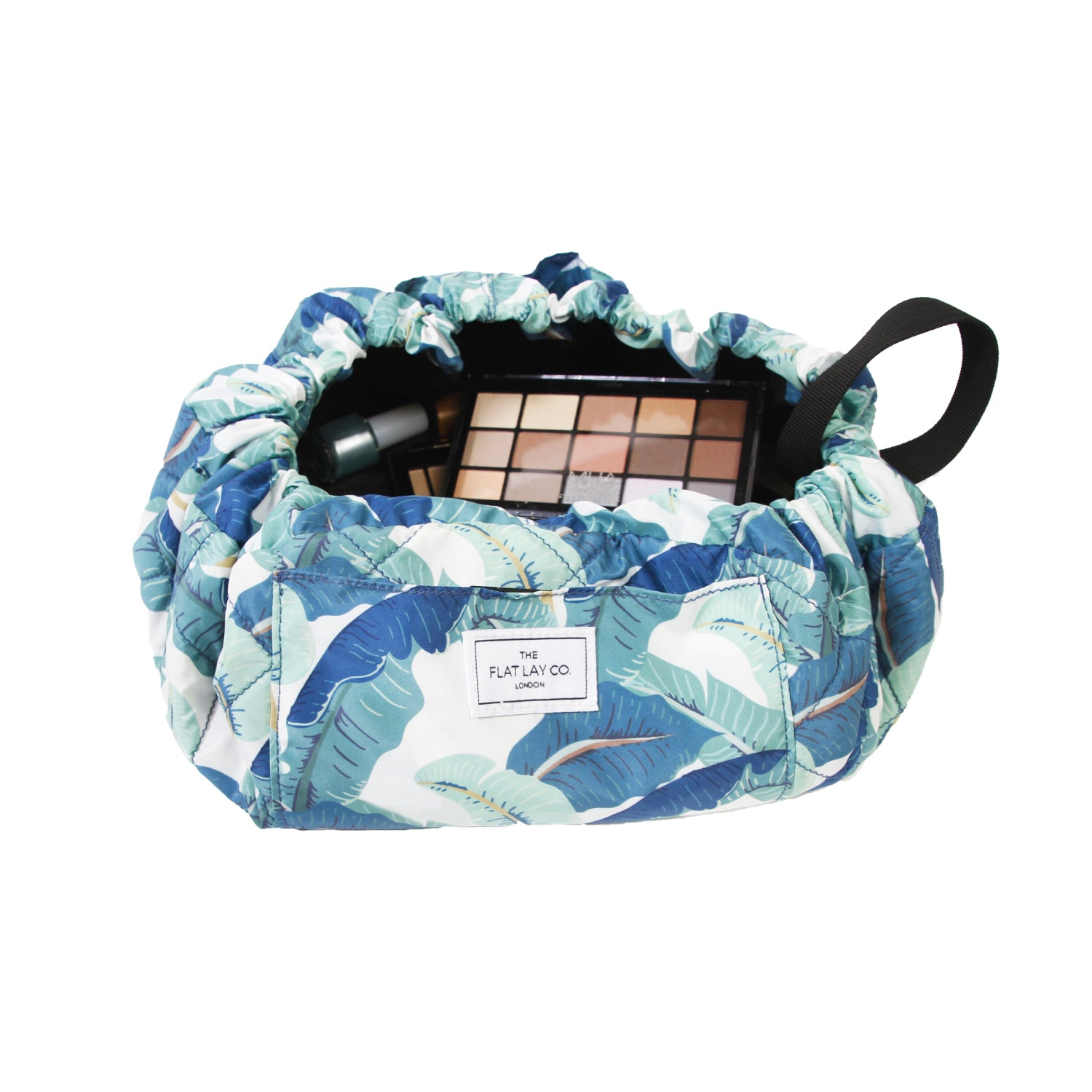 Tropical Leaves Open Flat Makeup Bag 50cm 🇺🇸