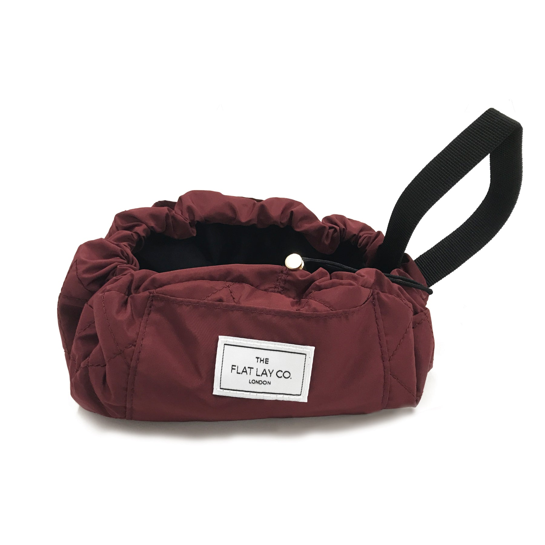 Mini Open Flat Makeup Bag Berry