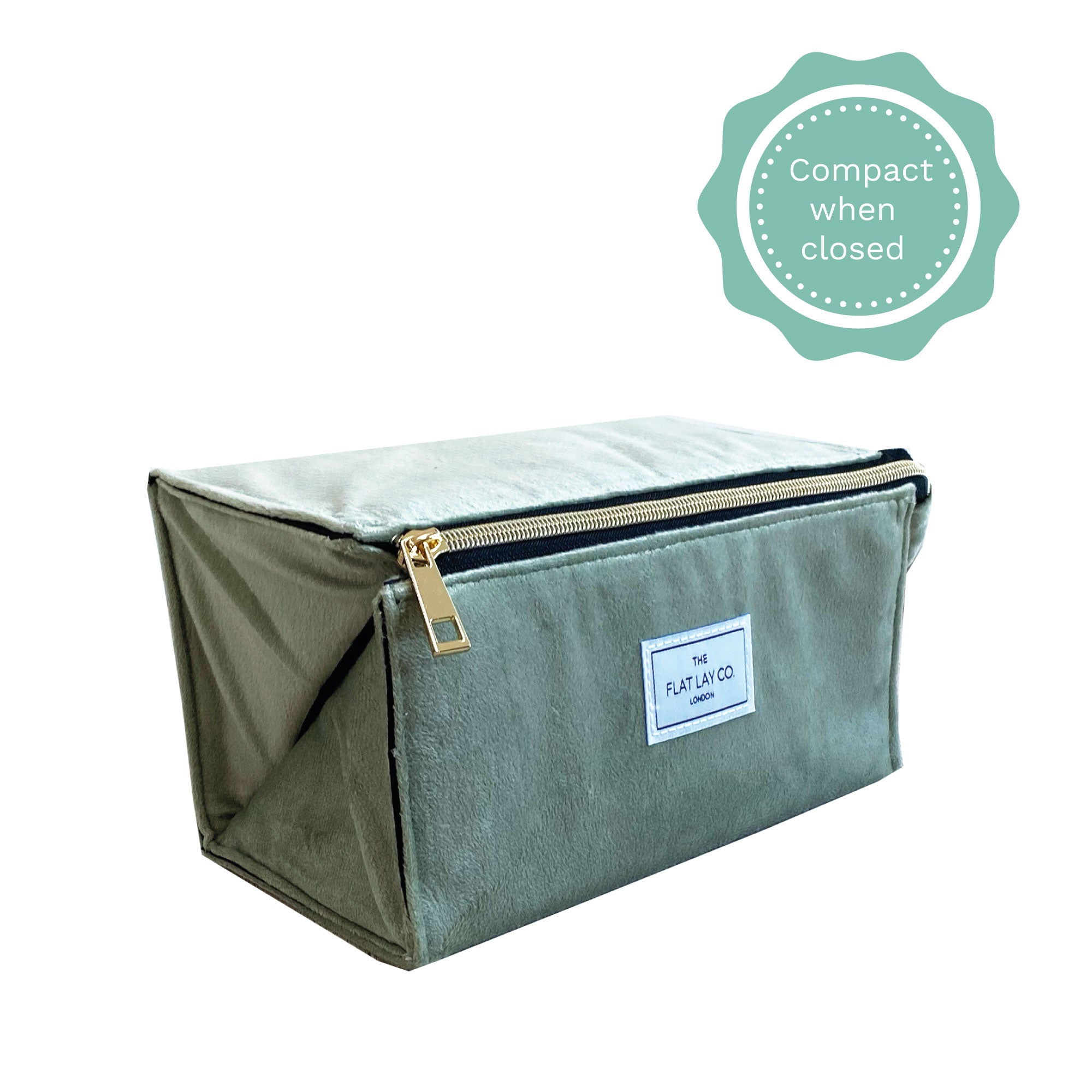 Sage Green Velvet Box Bag