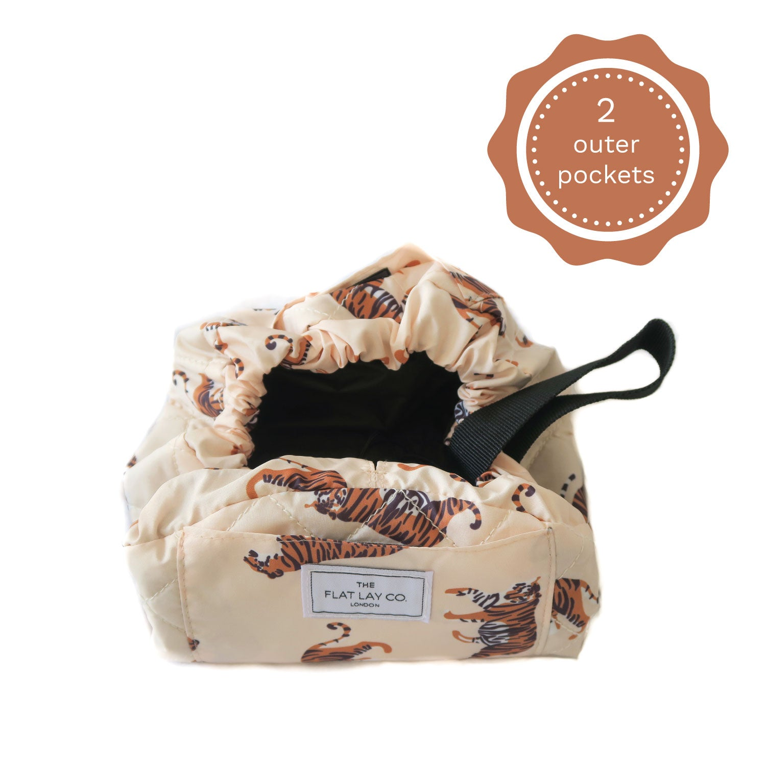 Mini Open Flat Makeup Bag Tigers