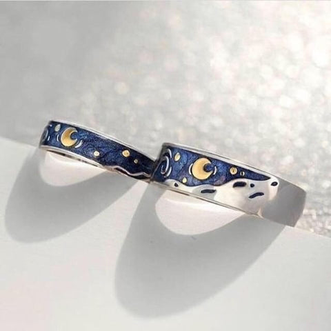 Starry night ring Van Gogh inspired jewelry 2019