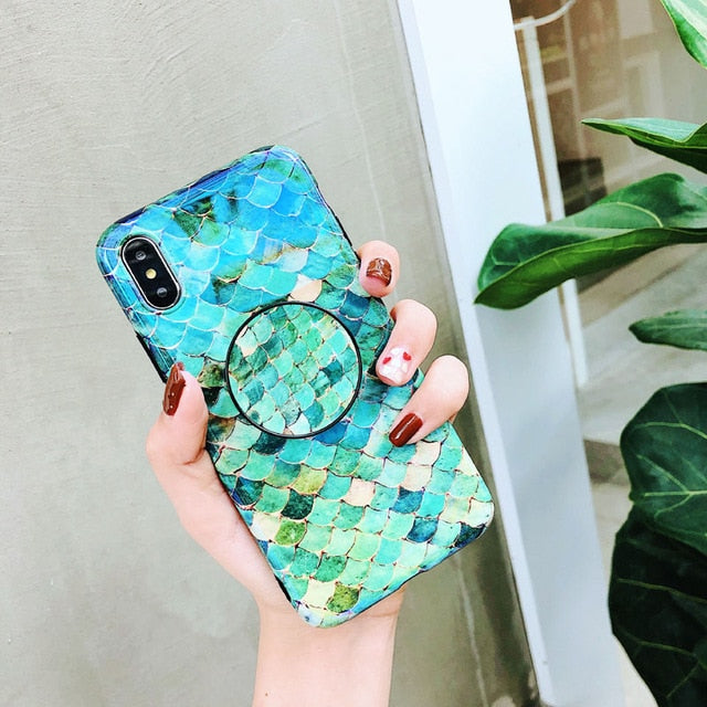 Sparkle Mermaid iPhone Case + PopSocket Holder