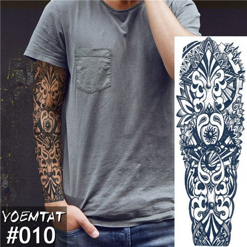 Men's Full Sleeve Collection - Temporary Tattoos