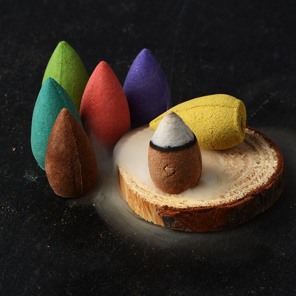 Fragrant Backflow Incense Cones - 25/50/70PCS