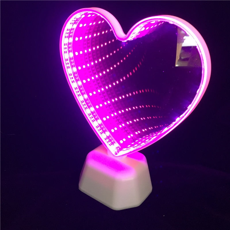 Infinity Mirror Lamp - LED Night Light for Kids