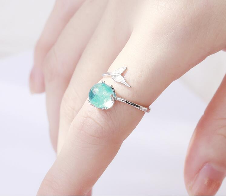 Ocean Crystal Mermaid Ring