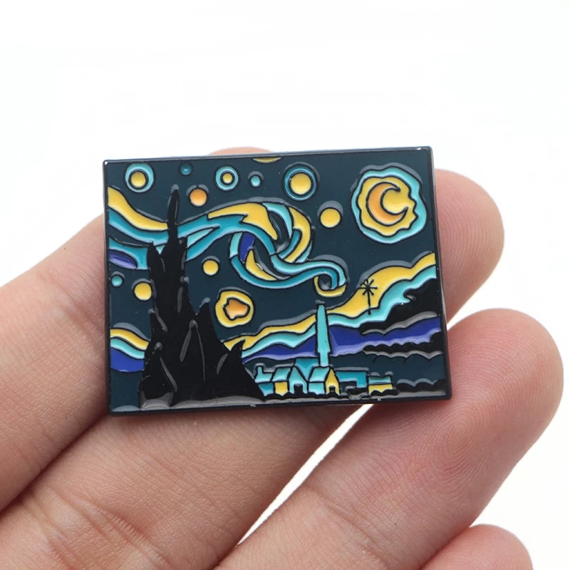 Starry Night Enamel Pin - By Van Gogh