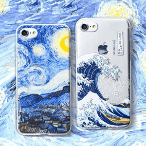 Starry Night & Kanagawa Wave iPhone Case