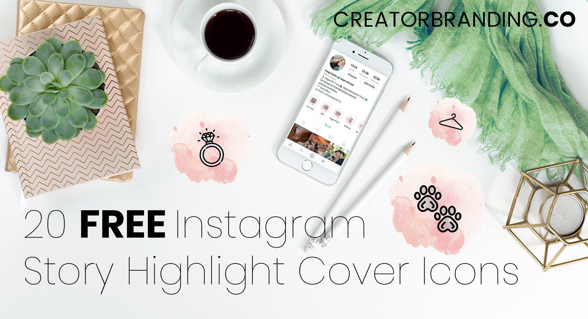 free instagram highlight cover icons pink and blue story highlights