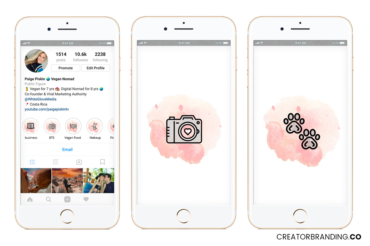 free instagram highlight cover icons pink and icons blue story highlights