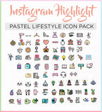 instagram highlight cover icons collection cute pastel blogger icon collection