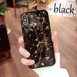 Luxury Gold Foil Bling Marble Phone Cases For iPhone X 10 Cover Hole Soft TPU Cover For iPhone 7 8 6 6s Plus Glitter Case Coque
