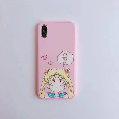 Anime Sailor Moon Cute Shock-Proof Anti-Scratch Mobile Phone Cover for IPhone  6 / 6s / 6plus / 6s Plus / 7 / 7plus / 8 / 8 Plus