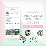 instagram highlight cover icons collection cute pastel blogger icon design