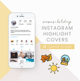 instagram highlight cover icons holiday season theme
