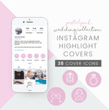 instagram highlight cover icons collection cute pastel blogger icon design wedding theme