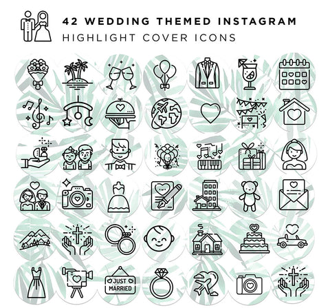 42 Destination Wedding Theme Cover Icons