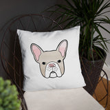 french bulldog frenchie throw pillow cute
