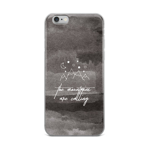 Mountains are Calling - Travel - iPhone Case