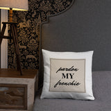 Pardon my Frenchie Throw Pillow