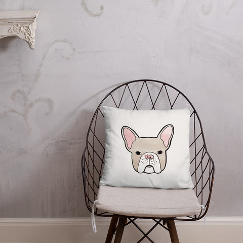 french bulldog frenchie pillow throw funny cute