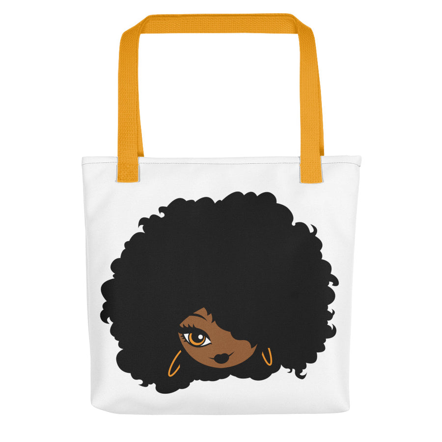 "Tote bag ""Afro Girl Cartoon"""