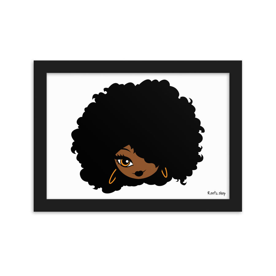"Tableau ""Afro Girl Cartoon"""