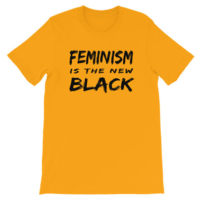 "T-Shirt ""Feminism Is The New Black"" - Rootz shop"