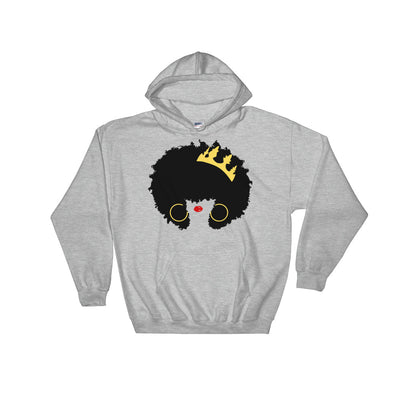 "Sweatshirt capuche ""Queen Afro"" - Rootz shop"