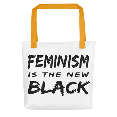 "Tote bag ""Feminism Is The New Black"" - Rootz shop"