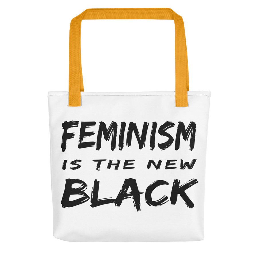 "Tote bag ""Feminism Is The New Black"" - Rootz.shop"
