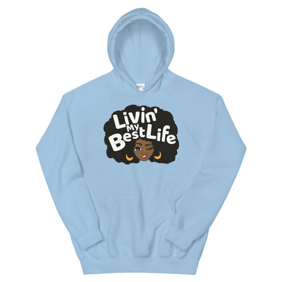 "Sweatshirt capuche ""Living my best life"""