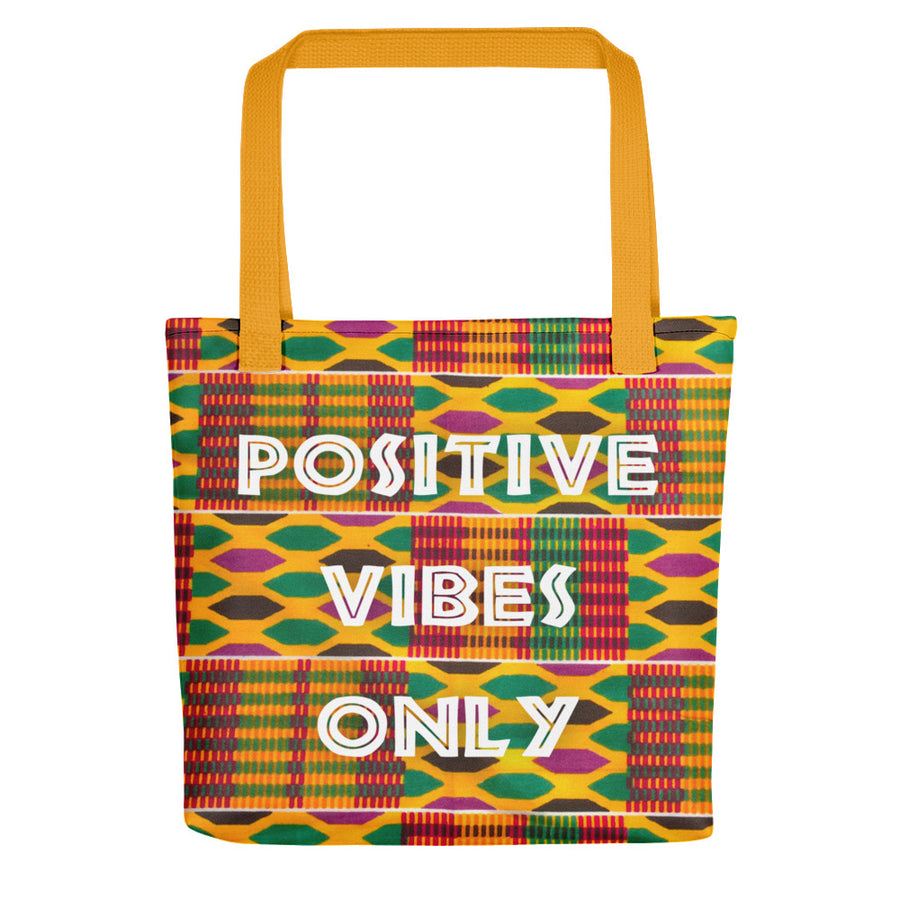 "Tote bag ""Positive Vibes Only - Kente"""