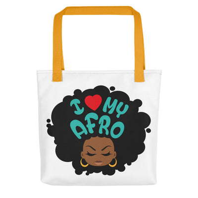"Tote bag ""I love my Afro"""