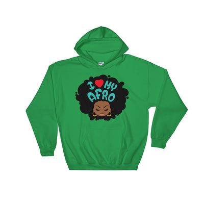 "Sweatshirt capuche ""I love my Afro"" - Rootz shop"