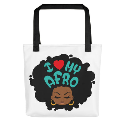 "Tote bag ""I love my Afro"" - Rootz shop"