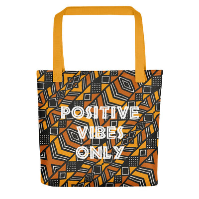 "Tote bag ""Positive Vibes Only - Bogolan"""