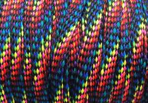 Dark Rainbow Flat Shoelaces
