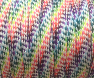 Light Rainbow Flat Shoelaces