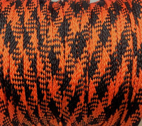 Orange and Black Plaid Flat Shoelaces