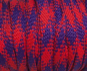 Red and Purple Plaid Flat Shoelaces