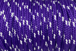 Classic Round Shoelaces Purple w/White Accents