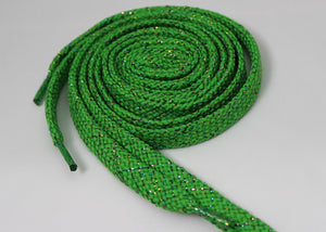 Lime Green Sparkle Shoelaces