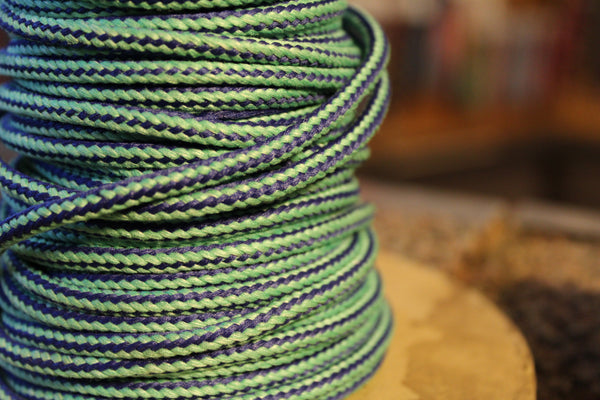 Green and Blue Round Shoelaces