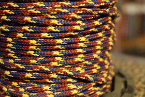 Red, Yellow and Blue Round Shoelaces