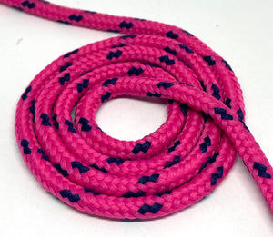 Classic Round Shoelaces Neon Pink w/Royal Accents