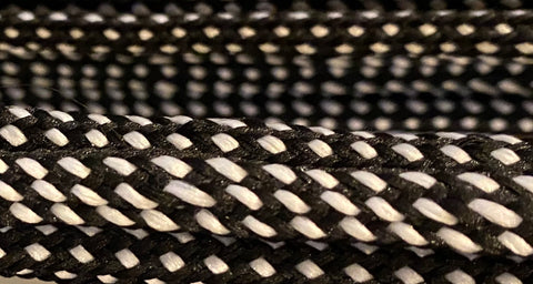 Black and White Hybrid Shoelaces