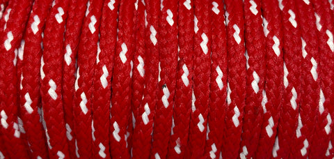 Classic Round Shoelaces Red & White