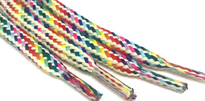Light Rainbow Hybrid Shoelaces